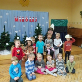 Mikołaj w przedszkolu w Pleszewie
